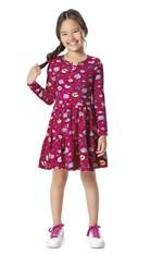 Vestido Evasê Estampado Menina Malwee Kids Rosa Escuro - 3