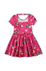 Vestido Evasê Flamingos Menina Zig Zig Zaa Rosa Escuro - 4