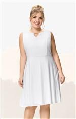 Vestido Evasê Maquinetado Wee! Branco - G
