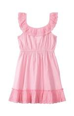Vestido Evasê Tricoline Fio Tinto Menina Malwee Kids Rosa Claro - 3