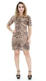 Vestido Exbou Suede Onça OI19 E001212
