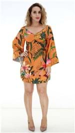 Vestido Farm Curto Laranja Floral OI19 272305