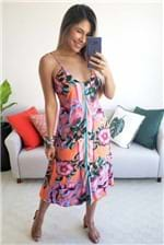 Vestido Farm Midi Flor Iris