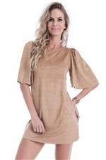 Vestido Feminino Amplo de Suede VE1312 - Kam Bess
