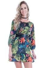 Vestido Feminino Amplo Floral com Manga VE1491 - Kam Bess