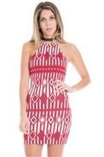 Vestido Feminino Curto Regata com Estampa VE1712 - Kam Bess