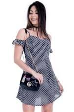 Vestido Feminino de Alcinha com Manguinha VE1613 - Kam Bess