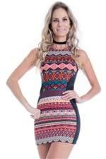 Vestido Feminino Étnico com Zíper VE1039 - Kam Bess