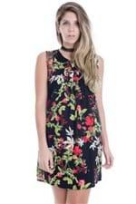 Vestido Feminino Floral Regata Amplo VE1635 - Kam Bess