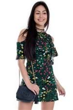 Vestido Feminino Justo Regata com Babado VE1631 - Kam Bess