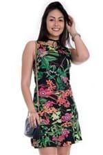 Vestido Feminino Regata com Estampa Floral VE1630 - Kam Bess