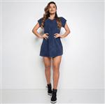 Vestido Fitness Moletom Marmorizado Azul VT052