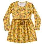 Vestido Floral Amarelo com Cinto - 14
