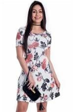 Vestido Floral com Manga Raglã VE1634 - P