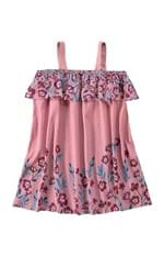 Vestido Floral Menina Malwee Kids Rosa Claro - 6