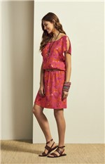 Vestido Fluído Adulto Rosa - G