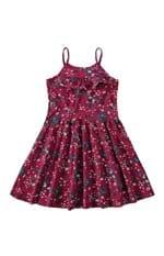 Vestido Godê Estampado Menina Malwee Kids Rosa Escuro - 4