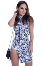 Vestido Gola Alta com Fenda VE1516 - M
