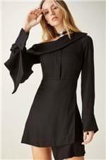 Vestido Gola Assimétrica Preto - P
