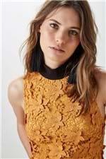 Vestido Gola Brick Laranja Brick - 42