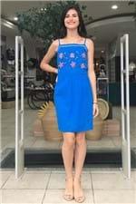 Vestido Grigri Azul Oceano Cantão - P