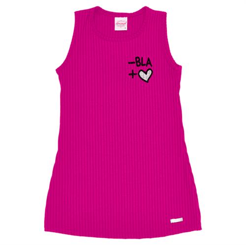 Vestido Infantil Abrange Malha Canelada Pink 04