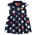 Vestido Infantil Bolinhas Azul Marinho - Kyly M