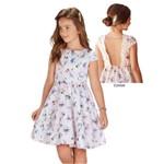 Vestido Infantil Cetim Lilás e Decote Nas Costas com Tule - Infanti