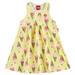 Vestido Infantil Doce Diversão Amarelo - Kyly 1