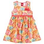 Vestido Infantil Doce Infância Laranja - Kyly 1