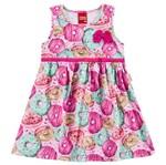 Vestido Infantil Doce Infância Rosa - Kyly 1