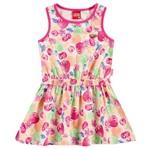 Vestido Infantil Frutinhas Rosa - Kyly 2
