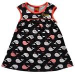 Vestido Infantil - Fundo do Mar - Azul Marinho - Kyly M