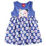 Vestido Infantil Gatinha Azul - Kyly G