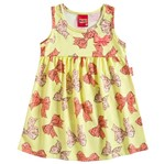Vestido Infantil Lacinhos Amarelo - Kyly M