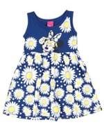 Vestido Infantil para Menina Disney Azul Marinho