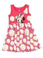 Vestido Infantil para Menina Disney Vermelho