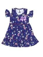 Vestido Infantil para Menina - Roxo/lilás