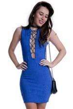 Vestido Jacquard com Decote Transpassado VE1541 - G