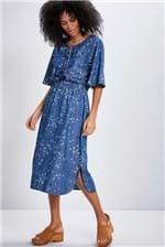 Vestido Jeans Cantão Estrelinhas Blue - Azul