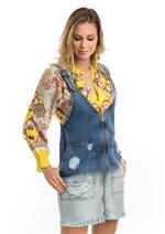 Vestido Jeans com Zíper Frontal