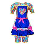 Vestido Junino Simples Mod.887 C/ Bermuda Adulto P