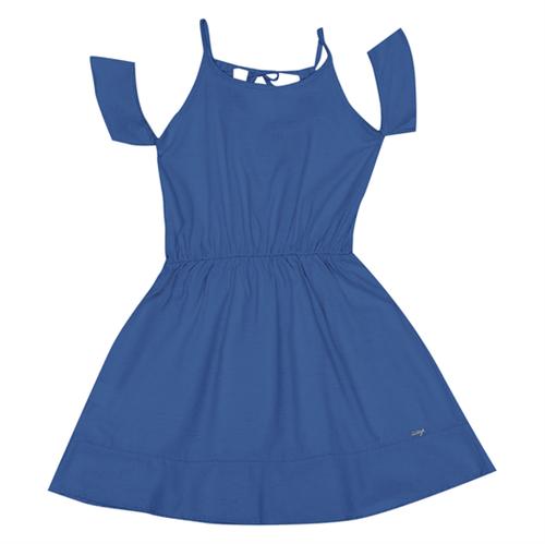 Vestido Juvenil Abrange Way Azul 12