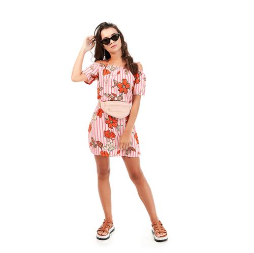 Vestido Juvenil Abrange Way Flores Laranja 12