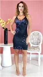 Vestido Lança Perfume Curto Preto Estampado PV20 502VE003214