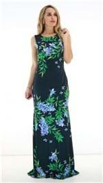 Vestido Lança Perfume Longo Preto Floral PV19 502VE002262