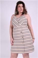Vestido Linho Sustentável Plus Size Marrom P