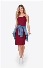 Vestido Liso Enfim Vinho - M