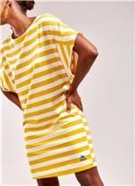 Vestido Listra Algodão T-Shirt AMARELO G