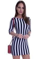 Vestido Listrado com Ziper VE0071 - P